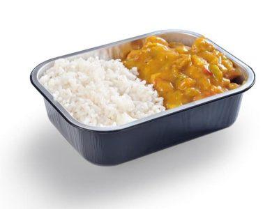 Kip Kerrieschotel met rijst Slagerij Bakkertje